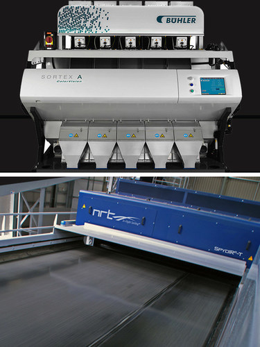 Complete optical sorting solution, from Buhler Sortex and NRT, for PET and HDPE plastic bottle and flake ...
