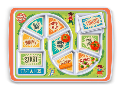 """""""Dinner Winner"""" kid's dinner tray from Fred & Friends"""
