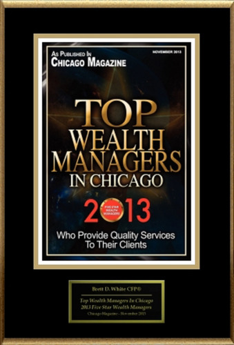 "Brett D. White CFP(R), APMA Selected For ""Top Wealth Managers In Chicago"".  (PRNewsFoto/American Registry)"