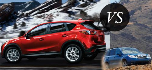 Ingram Park Mazda compares the 2015 Mazda CX-5 to the 2015 Subaru Forester. (PRNewsFoto/Ingram Park Mazda)