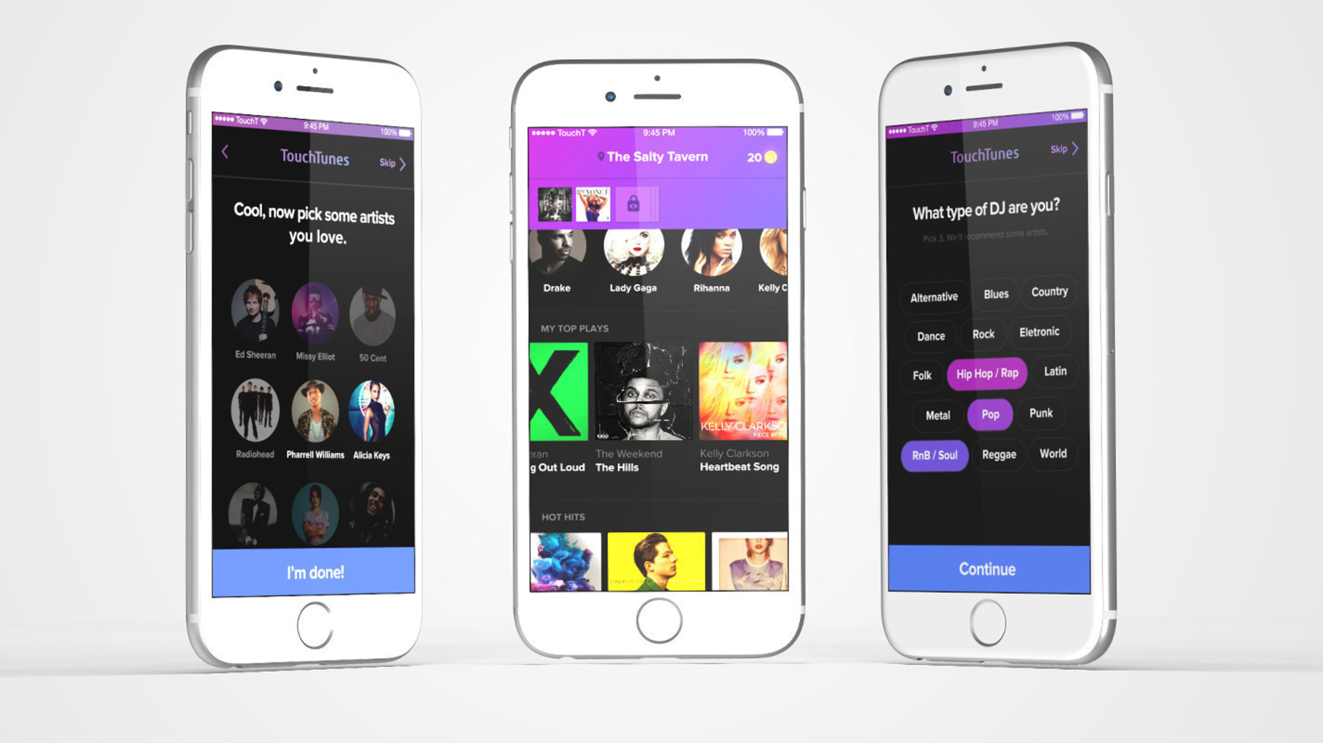 TouchTunes' next generation jukebox app is now available on iOS and Android. Take control of your music experience and be the DJ like never before.