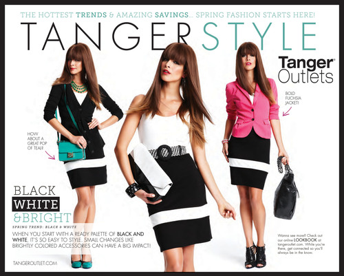 Tanger Outlets celebrates spring fashion with TangerSTYLE! Black White & Bright. Shop and Save! Visit tangeroutlets.com.  (PRNewsFoto/Tanger Factory Outlet Centers, Inc.)
