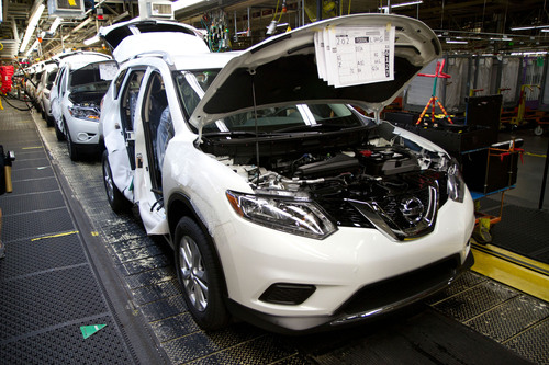 Nissan Celebrates 10 Million Tennessee-Built Vehicles With Start Of U.S. Rogue Assembly.  (PRNewsFoto/Nissan ...
