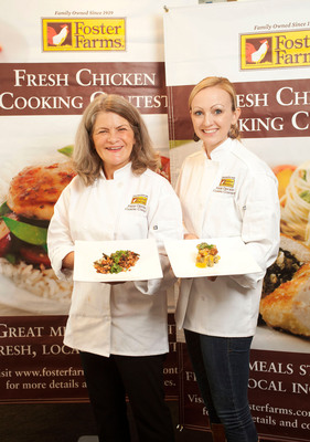Merry Graham and Jackie Dodd won the Foster Farms Third Annual Fresh Chicken Cooking Contest California Regional finals. They will compete in the Napa Valley on Sept. 28 for $10,000 and a year's supply of fresh chicken.  (PRNewsFoto/Foster Farms)