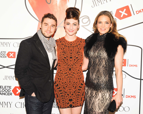 Jimmy Choo & DKMS Celebrate the Gift of Life at the New Museum in NYC. (l. to r.) Nick Noonan, Karmin and Katharina Harf.  (PRNewsFoto/DKMS Delete Blood Cancer, Carly Otness/BFAny)