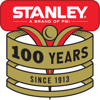 To commemorate its 100th anniversary, the STANLEY brand issued two commemorative vacuum bottles with a new badge.