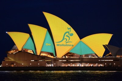 Sydney cheers on the Wallabies on the Sails of the Sydney Opera House_Destination NSW James Morgan (1)