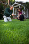 TruGreen's Ben Hamza, Ph.D., demonstrates fall lawn, tree and shrub care tips.  (PRNewsFoto/TruGreen)