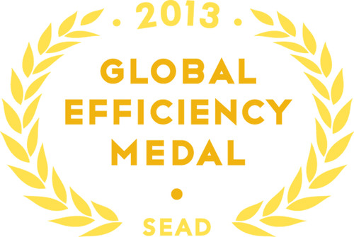 The Super-efficient Equipment and Appliance Deployment (SEAD) Initiative awards Global Efficiency Medals to Samsung and LG for producing the most energy efficient flat-panel televisions in the world.  (PRNewsFoto/Center for Law and Social Policy)