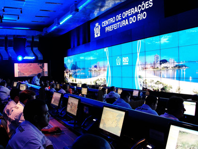 The Rio Operations Center, which will be located in Cidade Nova, will integrate and interconnect information from multiple government departments and public agencies in the municipality to improve city safety and responsiveness to various types of incidents, such as flash floods and landslides.  (PRNewsFoto/IBM)