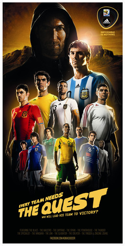Official 2010 FIFA World Cup sponsor adidas is ready to kick off the global tournament.  (PRNewsFoto/adidas)