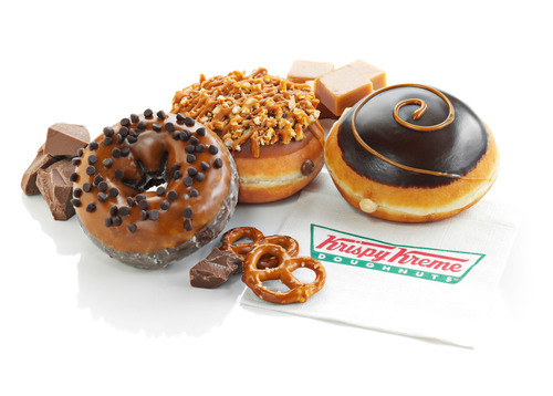 Chocolate and Caramel is a classic reward-yourself combination, and this summer Krispy Kreme(R) is putting a sweet and savory twist on these irresistible favorites. Krispy Kreme's Caramel and Chocolate Shop treats feature hand-dipped and handcrafted doughnuts topped with smooth caramel, sweet chocolate and salted pretzels. New Caramel Chocolate Chip Cake, Caramel Chocolate Pretzel and Dark Chocolate Caramel Kreme(TM) doughnuts are available June 24 through September 1, 2013 at participating Krispy Kreme US and Canadian locations. Make it a  ...