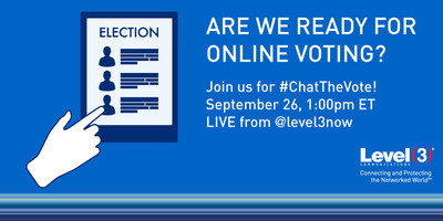 With the presidential election around the corner, Level 3 is hosting a Twitter chat that will bring together network experts, policy advisors, cryptographers and media experts to discuss the viability of online voting.