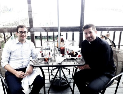 Hosting Wall Street Journal reporter Rob Copeland for two days in Boston, our home and church