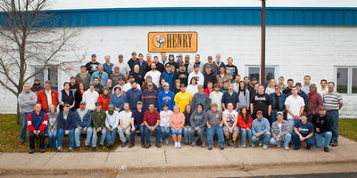 The team at Henry Repeating Arms' Rice Lake, WI facility.  (PRNewsFoto/Henry Repeating Arms)