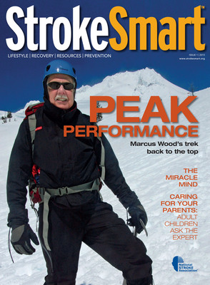 National Stroke Association has relaunched StrokeSmart, its flagship publication dedicated to the millions of families impacted by stroke. StrokeSmart boasts a sleek redesign and companion website, www.strokesmart.org, that will bring you the stories and news of a community and world impacted by stroke. Read the first issue of 2013 now at www.strokesmart.org.