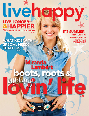 Live Happy July/August 2014 issue features Miranda Lambert (PRNewsFoto/Live Happy LLC)