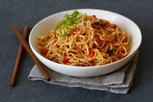 New in December and for the 2013 Diet Season, Nutrisystem's Spicy Kung Pao Noodle.   (PRNewsFoto/Nutrisystem, Inc.)