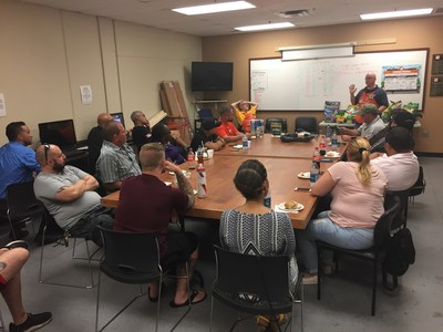 A group of injured veterans joined Wounded Warrior Project for a DIY workshop and learned about repair and upkeep for lawn maintenance equipment.