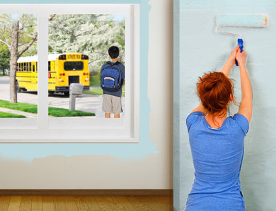 Interior painting is a lot easier when the kids are back in school.