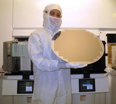 Molecular Imprints 450mm Wafer.  (PRNewsFoto/Molecular Imprints, Inc.)