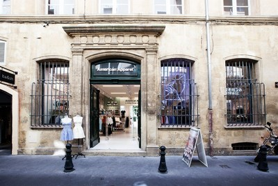 American Apparel, the vertically integrated clothing manufacturer based in downtown Los Angeles, has announced the relocation of its Aix-en-Provence store.