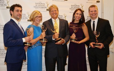 The American Law Journal recognized with two Emmy awards from the NATAS Mid-Atlantic Chapter September 24, 2016. L to R: Schaeffer, Jones, Naughton, Passarella, Keeler