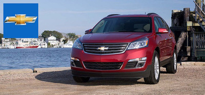 The 2014 Chevy Traverse will continue to impress with its sheer volume of space available and the 2014 Chevy Impala bests the 2014 Ford Taurus with better performance and a more comfortable interior. (PRNewsFoto/Chevrolet of Naperville)