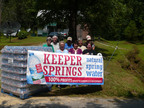 Thirty Thousand Bottles of Drinking Water Provided to Kentucky Community Affected by Methane-Contaminated Well Water.  (PRNewsFoto/Keeper Springs Natural Spring Water, Ted Withrow)