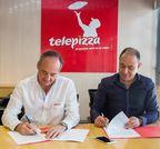 Pablo Juantegui, Consejero Delegado de Telepizza y Marcel Paul El Khoury Saade, representante del grupo inversor