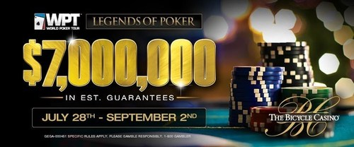 Don't miss Season VIII WPT/Legends of Poker $7,000,000 in Est. Prize Pool starting July 28th - Sept 2nd at ...