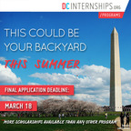 Make D.C. your backyard this summer!  Do the DC Internships program, develop skills and have experience to get a job when you graduate. (PRNewsFoto/The Fund for American Studies)