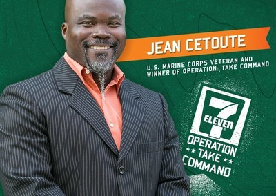 U.S. Marine Corps veteran Jean Cetoute of Richlands, N.C., is the 2016 winner of a 7-Eleven(R) convenience store in the second OPERATION: Take Command franchise competition