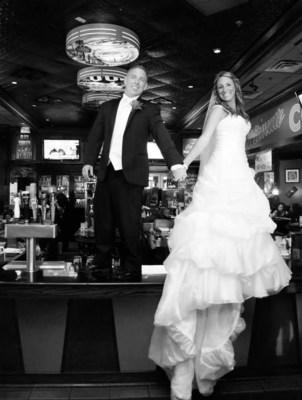 Dawn and Tony Carrano wedding photo at TGI Fridays in Springfield, NJ