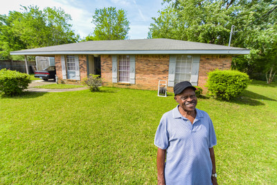 In February 2016, Mr. Mose Dunmore Jr. of Bay St. Louis, Mississippi, was awarded a $4,867 Special Needs Assistance Program grant from the Federal Home Loan Bank of Dallas and The First, A National Banking Association. The grant paid to replace rotting boards around the roof, install a ceiling fan, fix a broken outdoor water line, and install a new roof vent over the kitchen.
