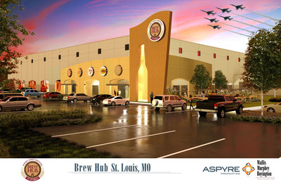 Brew Hub Announces New St. Louis Brewery. St. Louis location will be Brew Hub's corporate headquarters and the second of five new state-of-the-art craft breweries the company plans to build throughout the country. (PRNewsFoto/Brew Hub)
