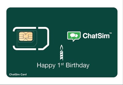 ChatSim is celebrating its birthday with customers!WhatsApp and other Instant Messaging Apps absolutely free for a day. (PRNewsFoto/ChatSim)