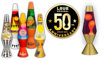 Superb Lava Lamp Celebrates 50 Years Along With The Beatlesu0027 13 Album Releases!