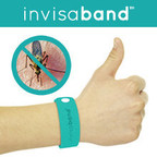 invisaband, a long-lasting, DEET-free mosquito-repellent microfibre bracelet, is currently crowdfunding on Indiegogo. (PRNewsFoto/Gogadgety Inc.)