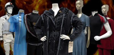 Theme Park Connection's Hunger Games Costume Auction Preview. Over 800 authentic costumes to be offered March 20th through March 30th in conjunction with eBay promotions. Visit www.themeparkconnection.com/HungerGames to learn more.  (PRNewsFoto/Theme Park Connection)