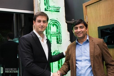 Jordan French, engineer and founding CMO at BeeHex, Inc. 3D printing, with tech celebrity and BeeHex CEO Anjan Contractor