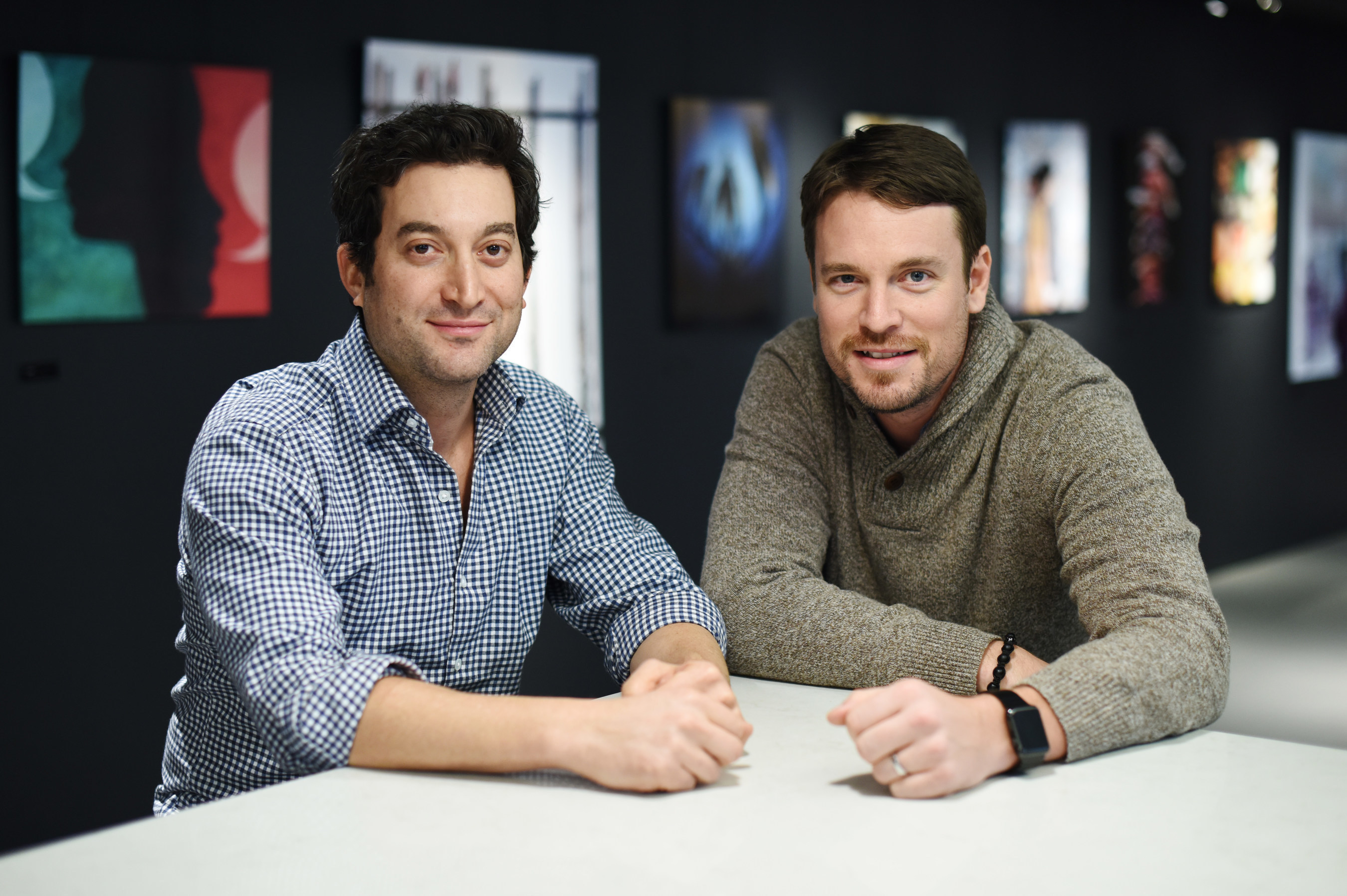 Jon Oringer and Billy Farrell Celebrate the Exclusive Multi-Year Global Syndication Deal between BFA and Shutterstock.