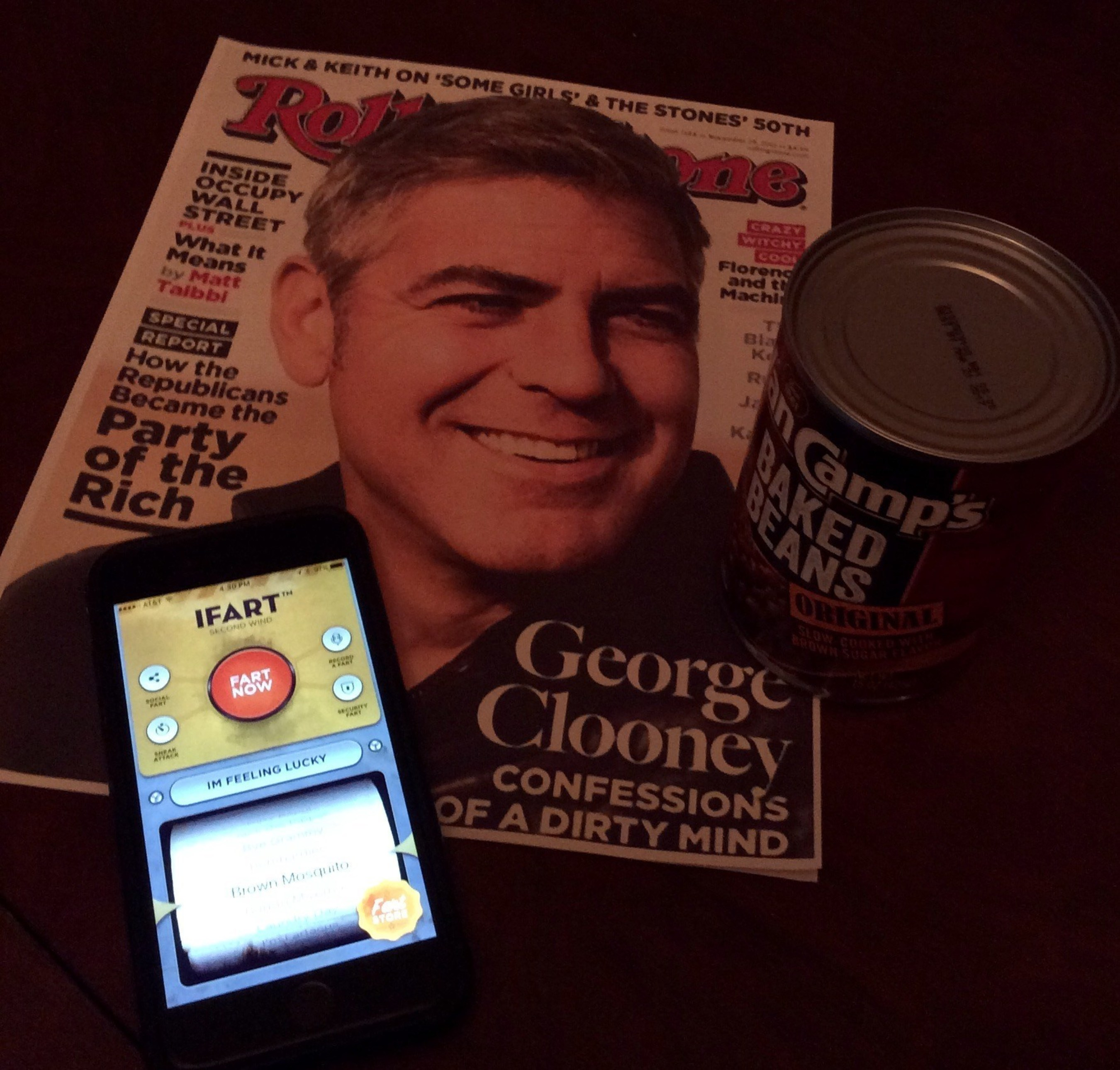 iPhone's Most Notorious app offers megastar George Clooney $100 for Original Fart Sounds