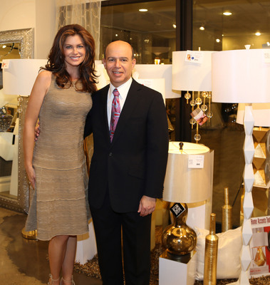Kathy Ireland and Clark Linstone.  (PRNewsFoto/Pacific Coast Lighting)