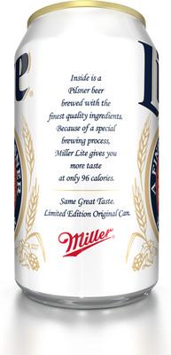 The Miller Lite Original Lite Can. (PRNewsFoto/Miller Lite) (PRNewsFoto/MILLER LITE)