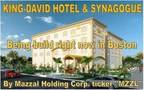 "King David hotel and synagogue http://www.youtube.com/watch?v=VO-2K4cGK_o&feature=youtu.be  construction has begun. Company engineers begun construction at King David hotel and synagogue new site on route 1 Boston Massachusetts. Final design of the hotel being approved by company board. Mazzal holding Corp. symbol ticker ""MZZL""  (PRNewsFoto/Mazzal Holding Corp)"