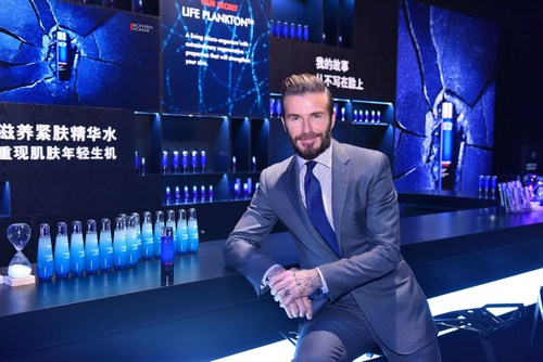 BIOTHERM HOMME & DAVID BECKHAM HOST DIGITAL EXPERIENCE IN SHANGHAI TO PRESENT NEW FORCE SUPREME LIFE ESSENCE (PRNewsFoto/Biotherm Homme)