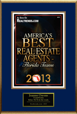 "Joanne Owens Selected For ""America's Best Real Estate Agents 2013 - Florida Teams"".  (PRNewsFoto/American Registry)"