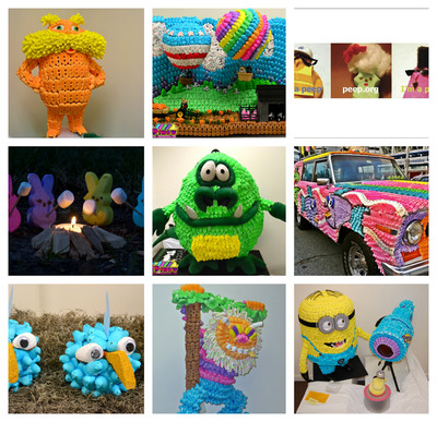 PEEPS(R) art creations from previous years.  (PRNewsFoto/Just Born, Inc.)
