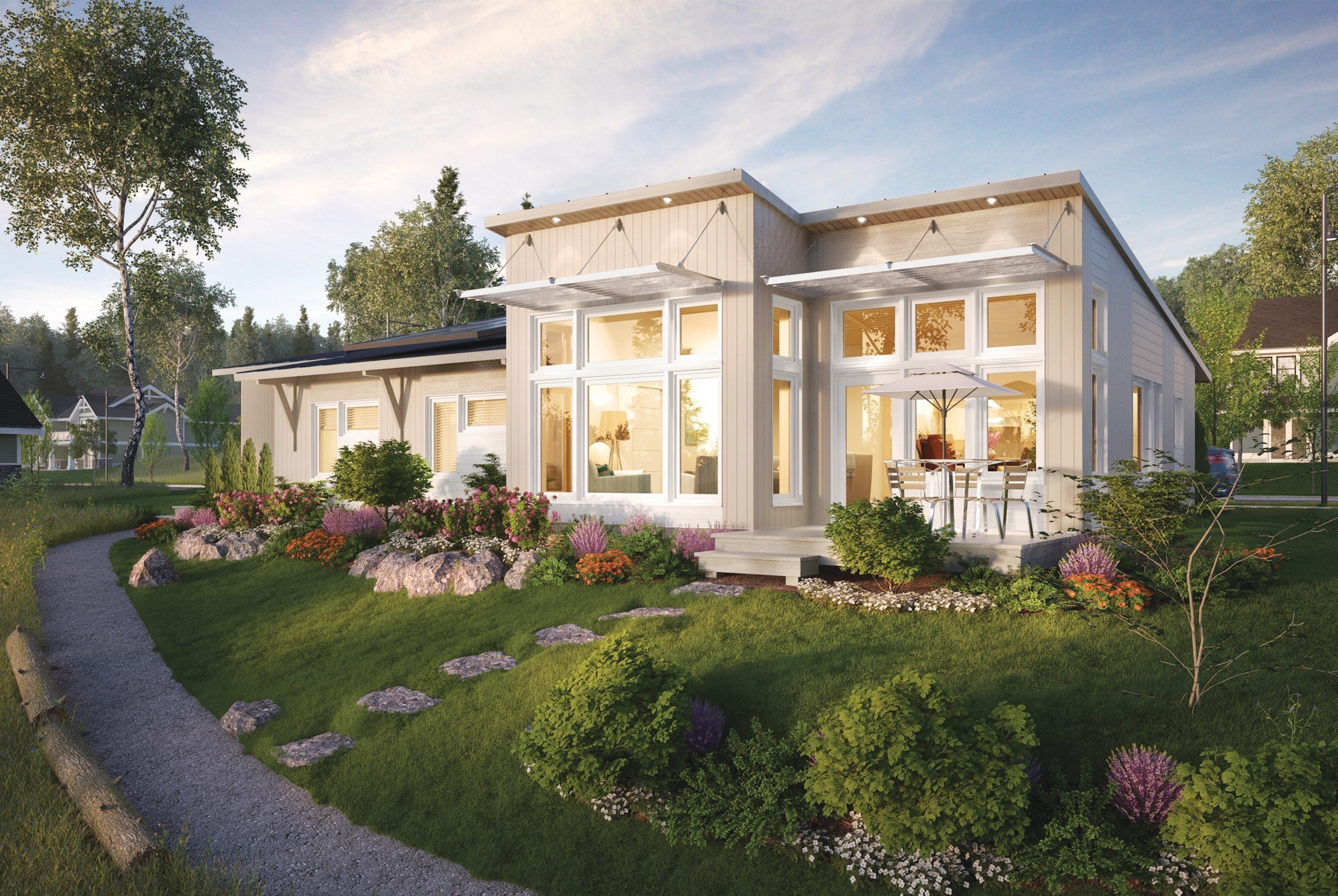Zero-net energy Greenbuild Unity Home featuring fully-integrated SunPower home solar solution
